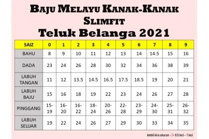 Baju Melayu Kids Teluk Belanga Slimfit Warna Baby Blue