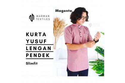 Kurta Yusuf Lengan Pendek kain Thai Crepe