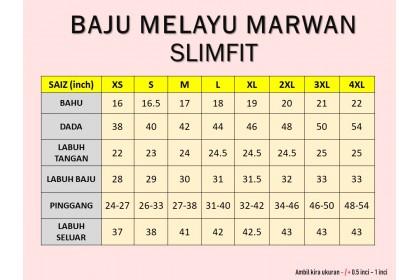 Baju Melayu Slim Fit Warna Navy Blue